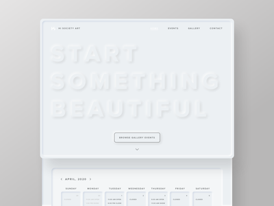 Neumorphic Landing Page Mockup daily ui daily 100 dailyuichallenge color palette color combination sketch uidesign ui mockup neumorphic dailyui003 dailyui03 daily ui challenge dailyui