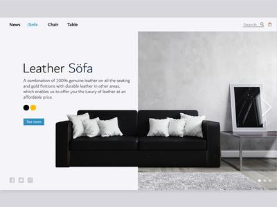 Leather Söfa