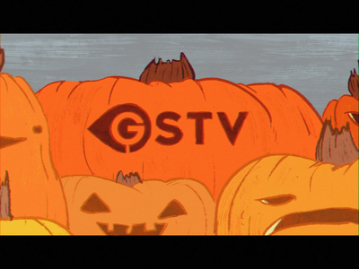 GSTV halloween bumper motion graphics halloween 2d animation after effects