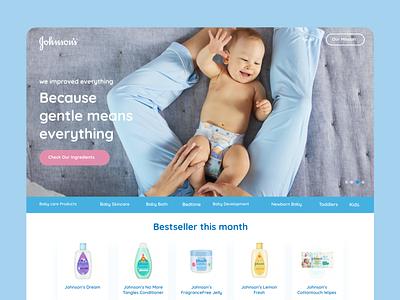 Johnson's Baby Landing Page Concept johnson concept ux design website website concept web design webdesign ui web product design