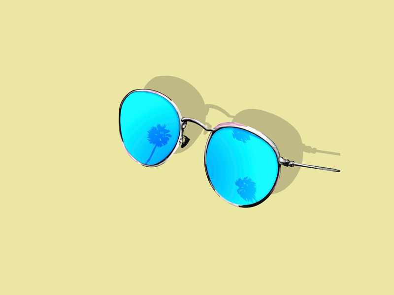 Sunglasses summer sunglasses design sketch draw illustration ray ban