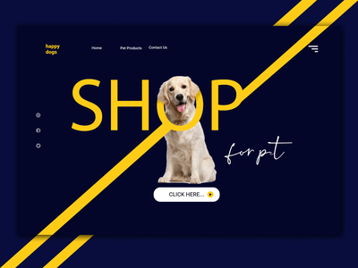 Dog Landing Page landing page ui dog landing product pets pet related mockup template mockup psd mockups landing design trends 2020 landing page webdesign logo branding vector graphicdesign illustration ui design application designer design