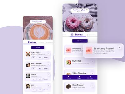 Donuts Ordering colors illustraion ui design designer design ui  ux moclups moclups ui guidlines ui guidlines uxdesign application app mobile ux ui ordering system