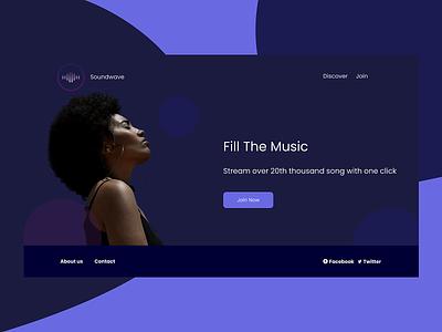Soundwave Music App trends typography grid system color palette logo illustration ui design ux animation mobile design design app graphicdesign ui ux designer web design webdesign landing music app