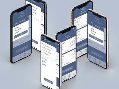 Online Banking App blue colors mockups landing shot app webdesign ui design designer design banking application app design mobile app