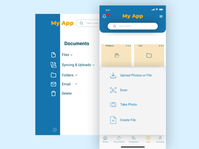 ZOHO-MY APP mockups applications document open with zoho folder app online designersmx design app reponsive design art adaptive designers graphic designs web application designer design ui app