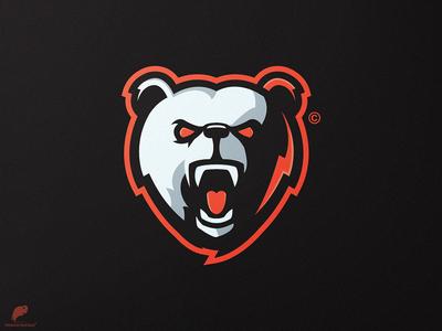 Bear Mascot Logo Secondary