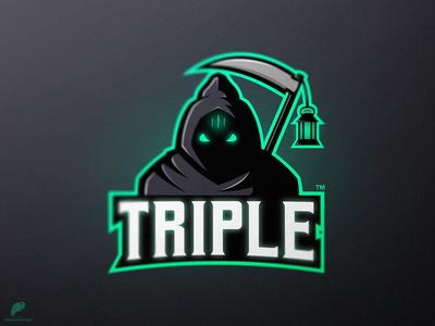 """""""Triple"""" Mascot Logo"""
