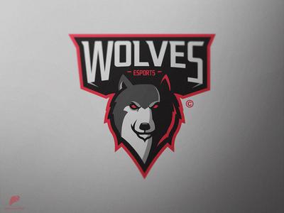 Wolf Mascot logo Primary