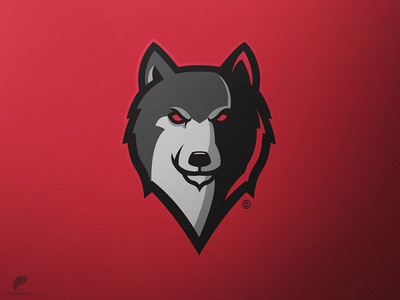 Wolf Mascot Logo Secondary