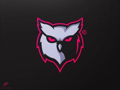 Owl Mascot Logo Secondary
