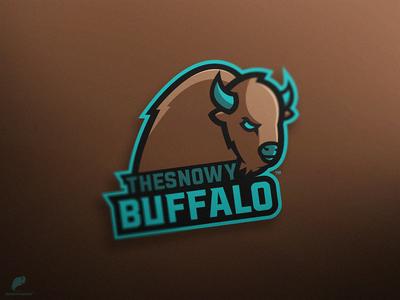 TheSnowyBuffalo Mascot Logo Primary