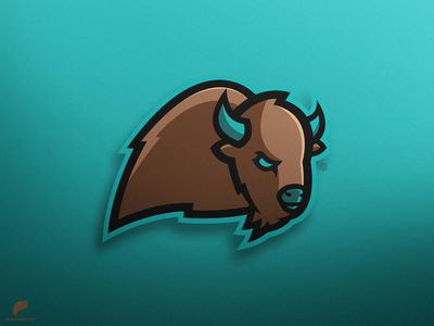 TheSnowyBuffalo Mascot Logo Secondary