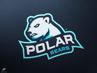 Polar Bear Mascot Logo Primary