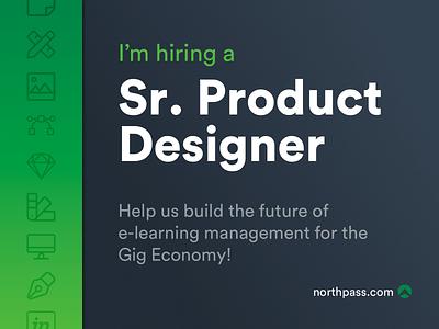 I'm hiring! product designer lms ux design product design hiring