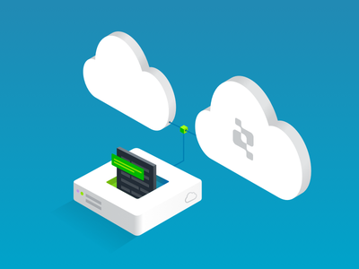 File > Cloud gradient cloud isometric illustration