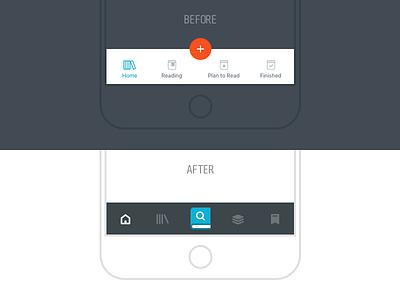 Bookstack Tab Bar ios ui iphone navigation icons