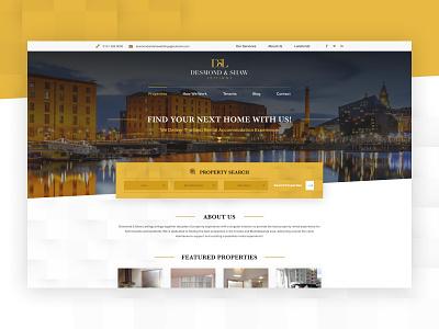 Desmond & Shaw Sales & Lettings icon agency digital activate branding ux ui logo design brand webdesign website web lettings sales