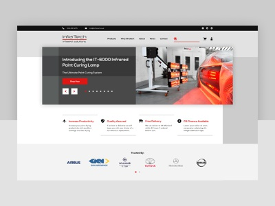 Infratech Solutions Website mobile desktop solutions infratech infrared automotive designer uxdesign uidesign webdesign website ux ui activate logo digital branding web brand design