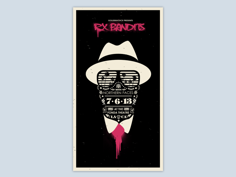 Poster Rx Bandits design branding silkscreen print gig poster typography illustration posters poster art concert poster gig posters poster design poster