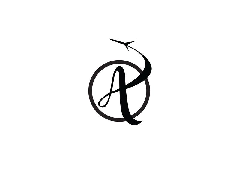 Logo Aaron & Anna Wedding type script script logo display font font typogaphy logo mark travel logo logo design