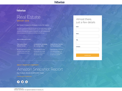 Hitwise Landing Page