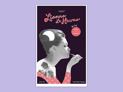 Poster Lianne Las Havas poster art concert poster silkscreen print gig poster typography poster color design poster design