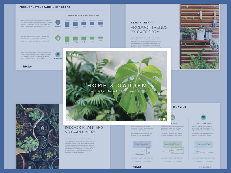 Hitwise Report Garden charts vegetables plants reports home and garden garden home report design whitepaper corporate design print design print report typography design