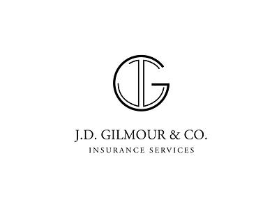 JD Gilmour Insurance Company Logo corporate identity corporate branding minimalist logo minimal logos insurance sans serif branding logo design branding typogaphy serif logodesign logo design