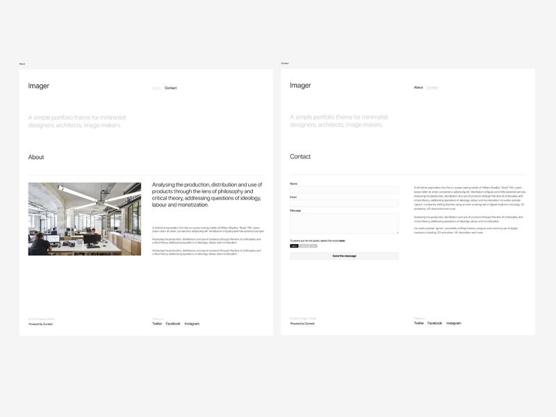 Dunked theme 02 figmadesign figma ui simple webdesign whitespace minimalist minimal templatedesign themedesign templates template theme dunked grafician