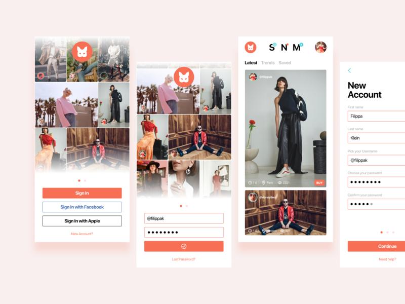 Fashion app app design uidesign fashion app proposal fashionapp appdesign app fashion design ui simple minimal minimalist figma grafician
