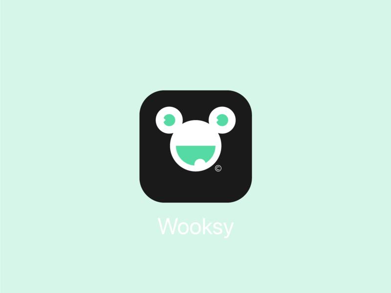 Wooksy app icon icon app icon vector ui logodesigner logo branding design minimalist minimal simple grafician