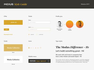 Modus.vc website styleguide styleguide vc capital modus website designer website design website figma uidesign ui design simple minimalist minimal grafician
