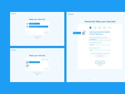 Chat bot onboarding chat bot web design onboarding visual designer visual design figma app ux uidesign ui design simple minimalist minimal grafician