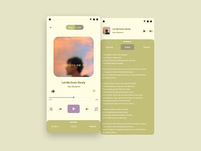 Material You Music app music app music inspiration user interface ui design user interface design minimal android 12 android material you material