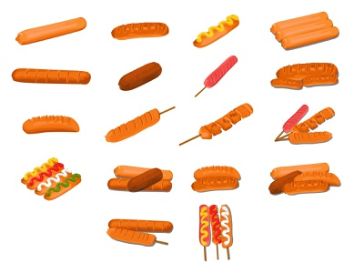 Sausage Vector object meats meat food illustration food illustration vector sausages sausage