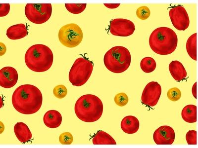 Pattern Tomato Vector