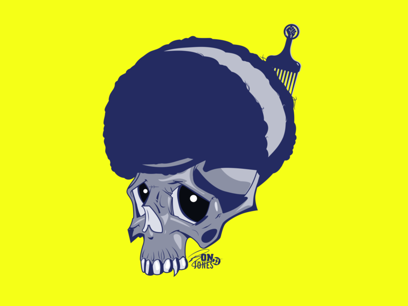 Skull Power vector illustration creative