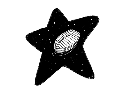 Dream and stars galaxy cosmic stars ship white black illustration mexico mexican star dream