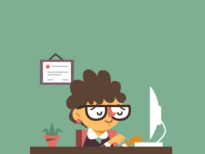 Ms. Senorita work in progress working work diploma secretaria vector secretary
