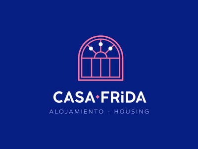 Casa Frida Housing icon typography design logo colima student house mexican mexico