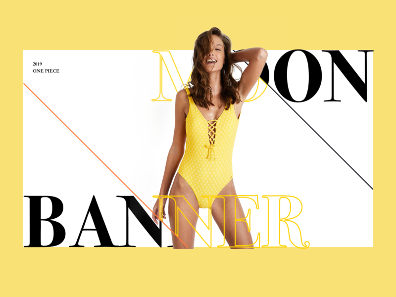 Web-banana moon web mlbile branding app design logo