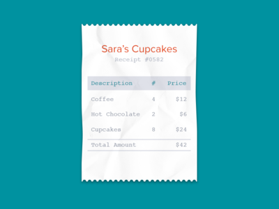 Receipt by Wave Apps