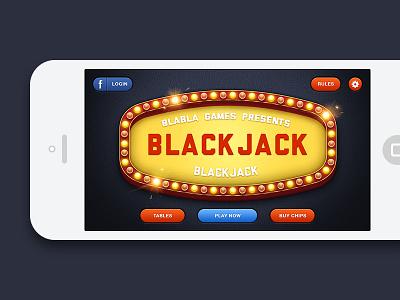 Blackjack iOS Game - Main Menu ios game blackjack casino main menu retina