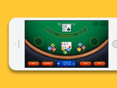 Blackjack iOS Game - Game Interface ios game blackjack casino game interface retina