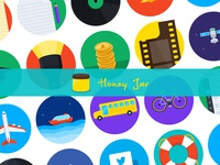 Honey Jar - Flat Iconset