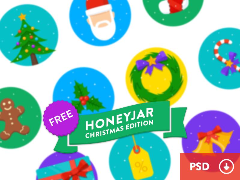 HoneyJar Christmas Edition - Free honeyjar christmas tree santa mistletoe candy sale gift bell stocking gingerbread wreath