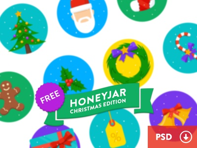 HoneyJar Christmas Edition - Free honeyjar christmas tree santa mistletoe candy sale gift bell stocking gingerbread wreath