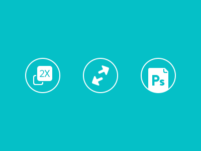Features Icons icons file format scalable resizeable 2x retina honeyjar