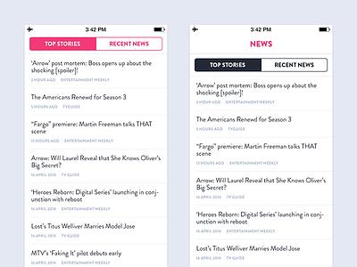 News - iOS ios news tv shows app flat